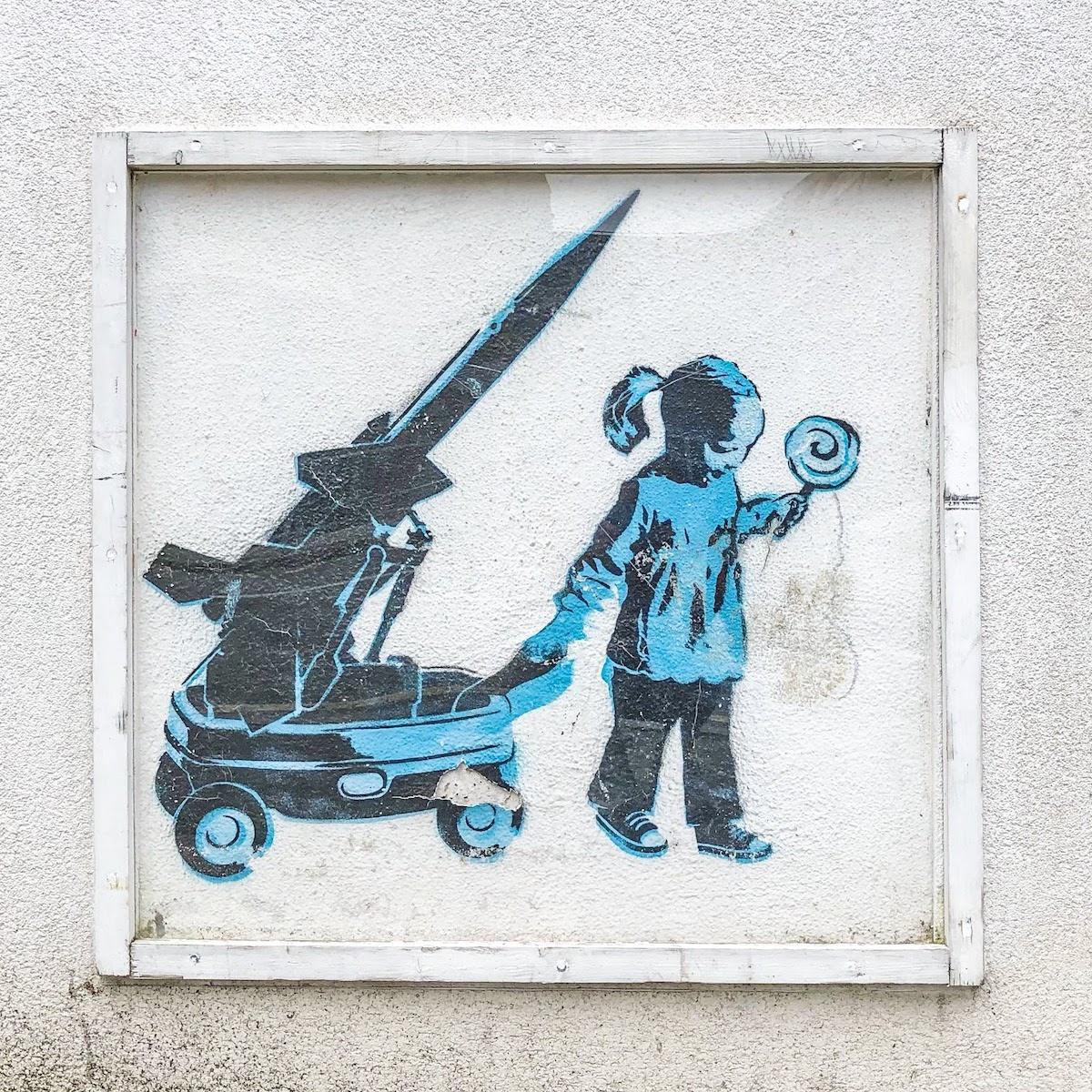 バンクシーのアートワーク(カムデン・タウン) Banksy's Artwork, Camden Town