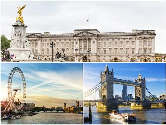 テムズ川クルーズ&ロンドン・アイ チケット付き:ロンドン半日観光ツアー(午前/英語)