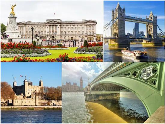 ロンドン半日観光ツアーとテムズ川クルーズ(英語/フィッシュ・アンド・チップス付プランあり)